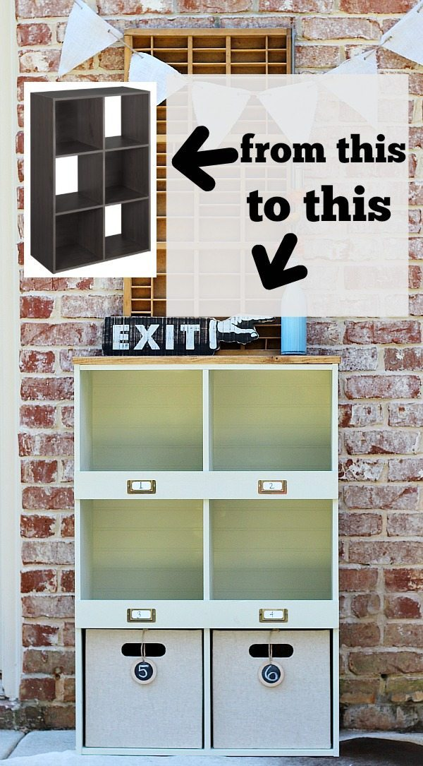 How to makeover a Lowes ClosetMaid laminate storage cube, create a custom look with HomeRight at refreshrestyle.com
