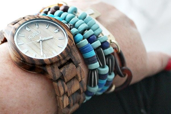 Layer jewelry and wood watch refreshrestyle.com