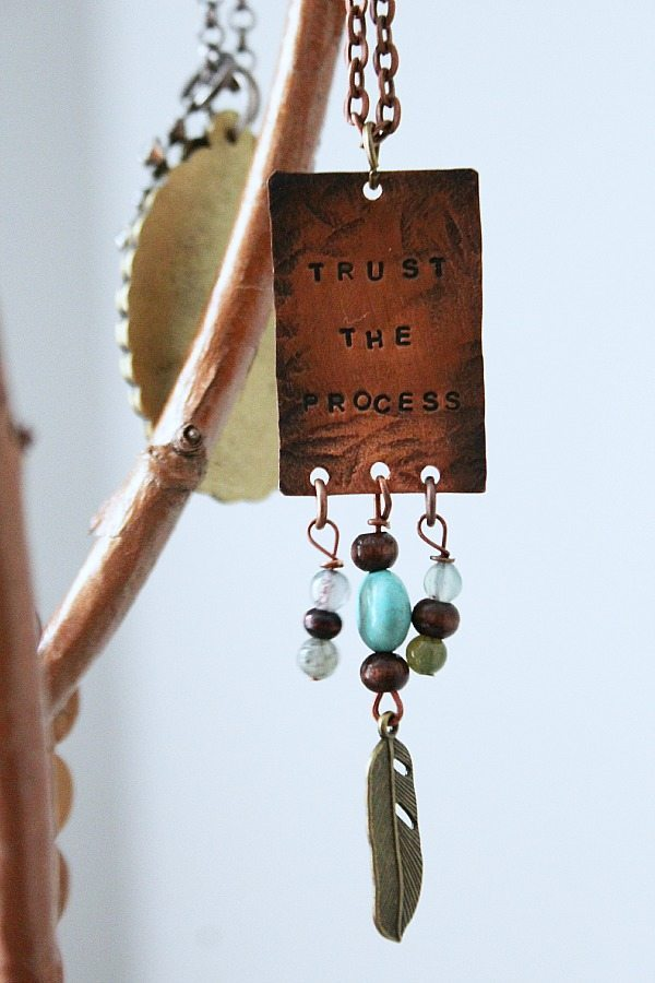 Long necklaces fit great on a branch jewelry holder refreshrestyle.com