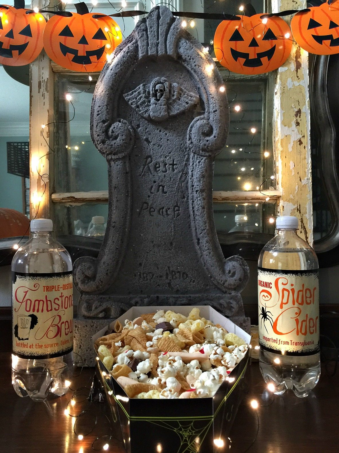 Tombstone Recipe mix for fun halloween treat at refreshrestyle.com