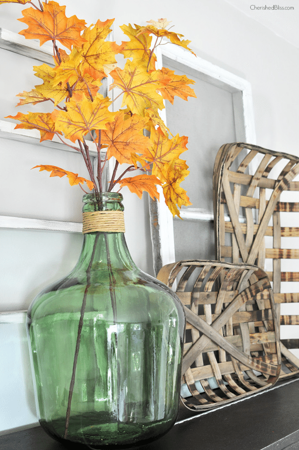 A Simple Fall Mantel from Cherished Bliss