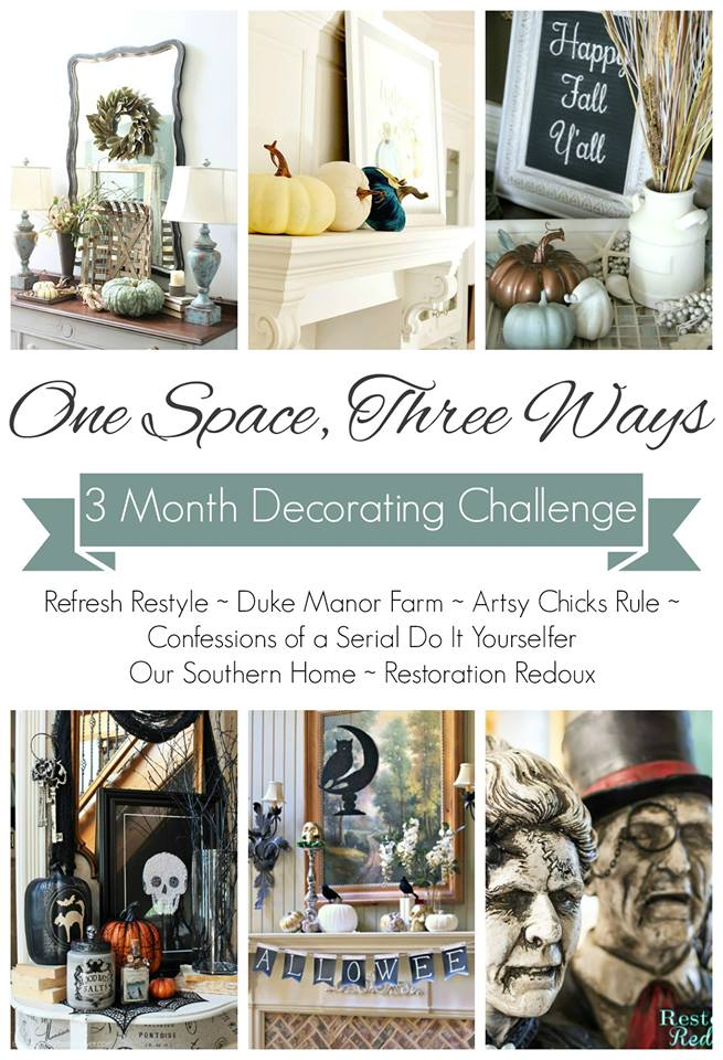 One Space 3 Ways - beautiful ideas for decorating