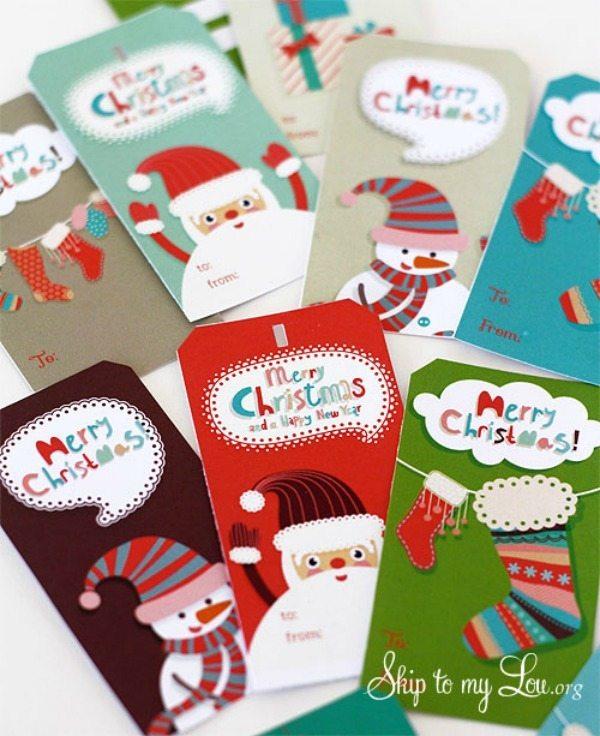 02 - Skip to My Lou - Printable Christmas Gift Tags