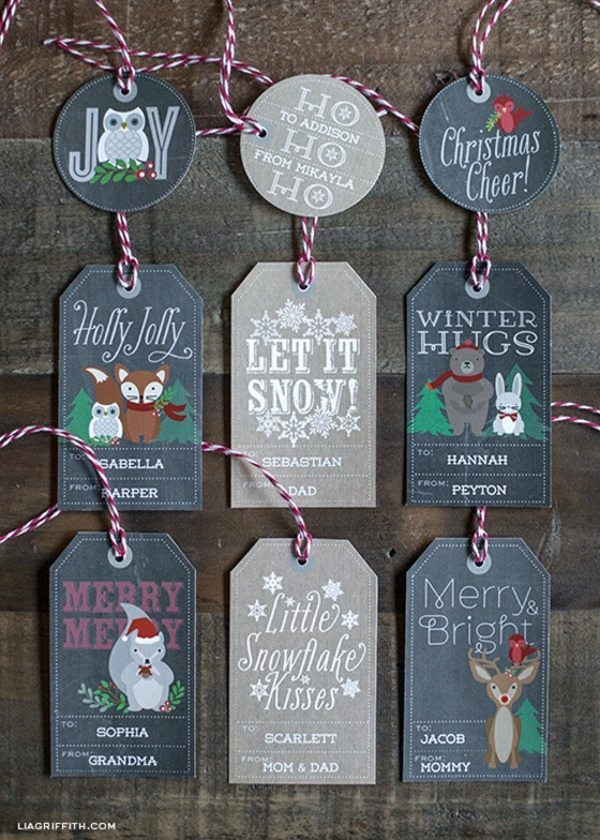 03 - Lia Griffith - Woodland Christmas Gift Tags