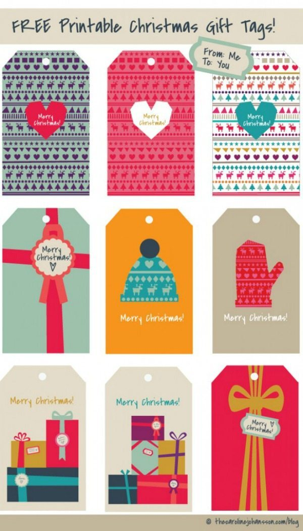 04 - The Caroline Johansson - Printable Christmas Gift Tags