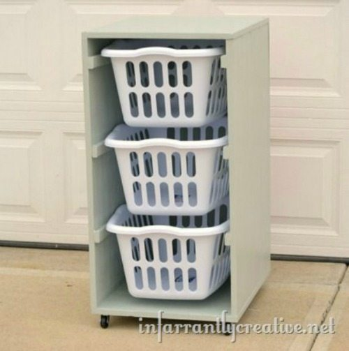 08 - Infarrantly Creative - Laundry Basket Sorter