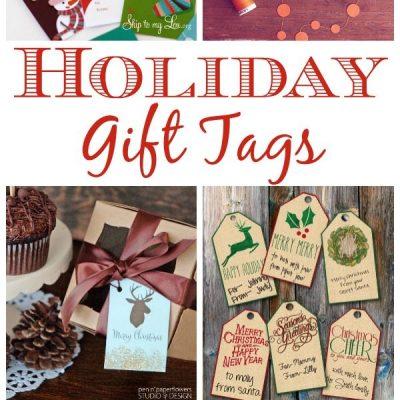 11 Printable Holiday Gift Tags