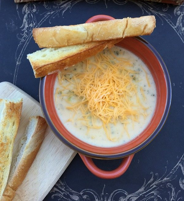 5 Ingredient Broccoli Cheese Soup recipe fast and easy