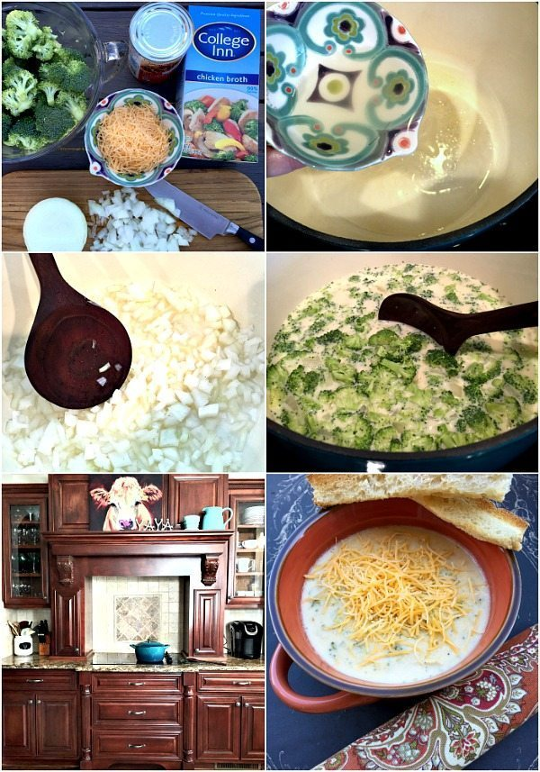 Broccoli Cheese soup recipe easy and filled with Cheese goodness