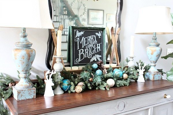 Christmas idea for the entry table
