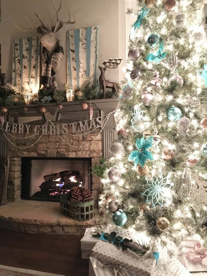 balsam hill christmas tree ideas in metallics and turquoise aqua