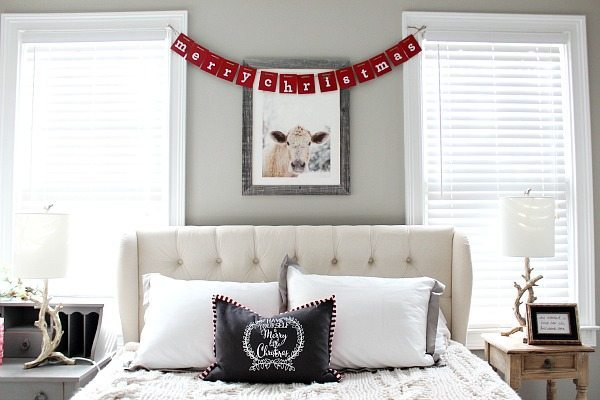 Cows and Christmas in the guest room at Refresh Restyle