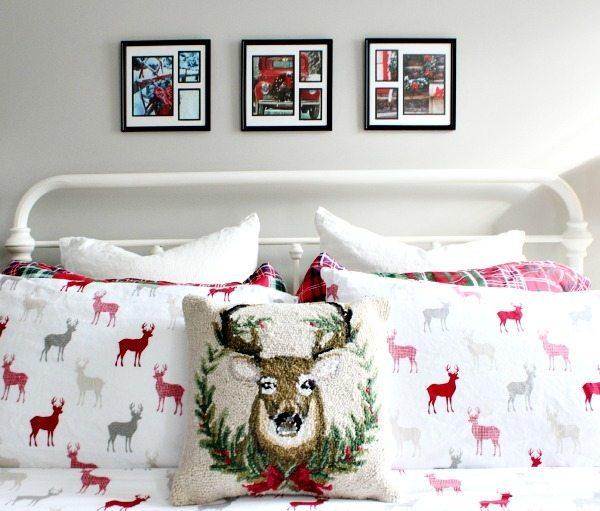 Dollar Tree art for the Christmas bedroom decor
