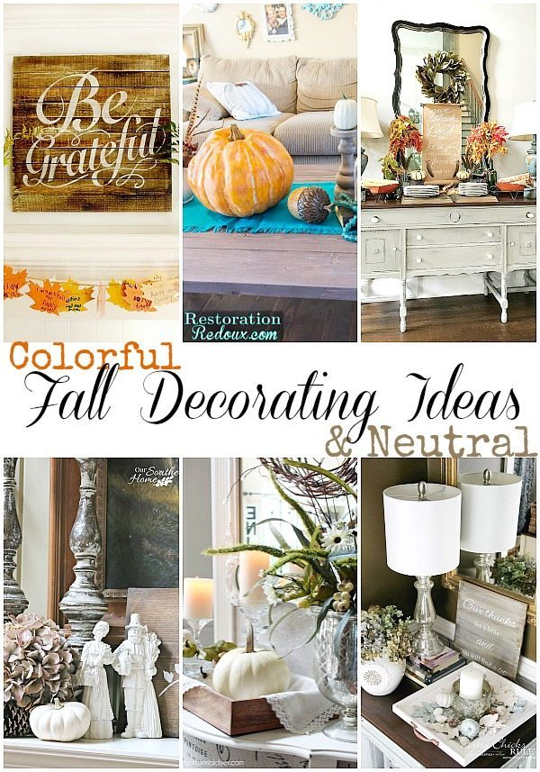Fall decorating tips for every style, colorful and neutral. Great tips!