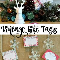 Free for you to print - Vintage inspired Christmas gift tags. Perfect to have on hand