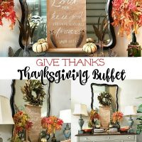 Give thanks to the Lord scroll idea and more for Thanksgiving Buffet
