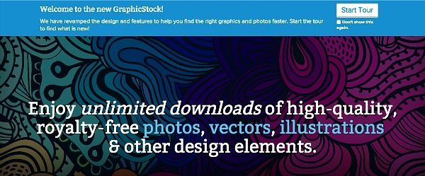 GraphicStock trial for 7 days of free downloads