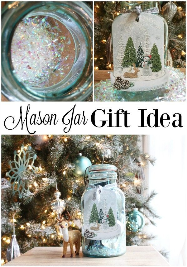 Mason Jar Christmas Gift Idea filled to the brim with goodies
