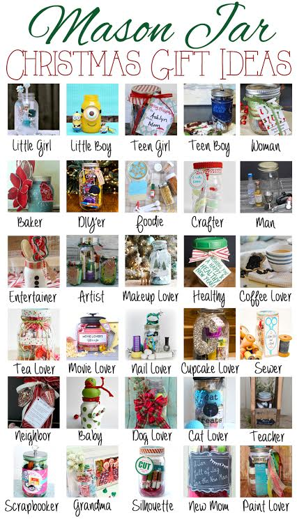 Mason Jar Gift Ideas Galore