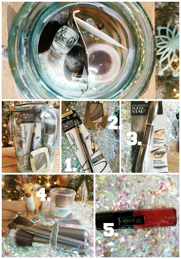 Mason Jar vintage blue filled. Great idea for Christmas gift