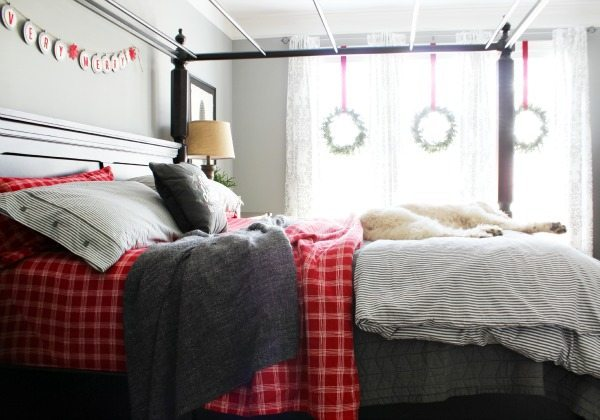 Master Bedroom Christmas tour at Refresh Restyle