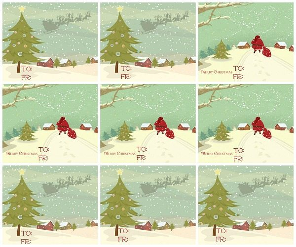 Merry Christmas gift tags for personal use, How to make Gift Tags with GraphicStock