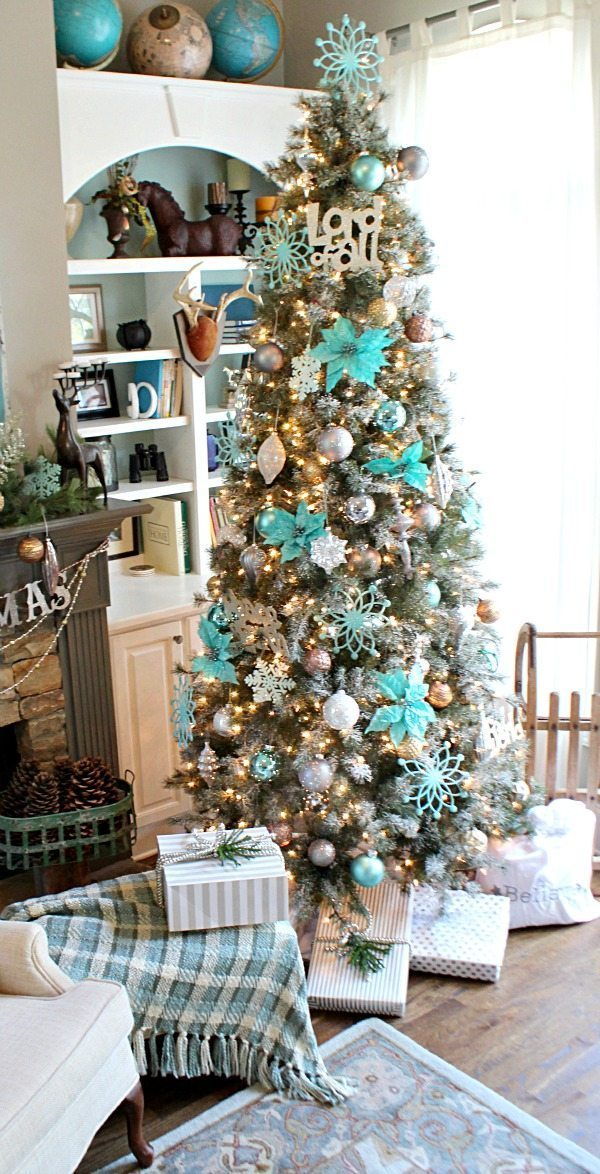 Merry Turquoise Aqua Christmas Tree from Balsam Hill