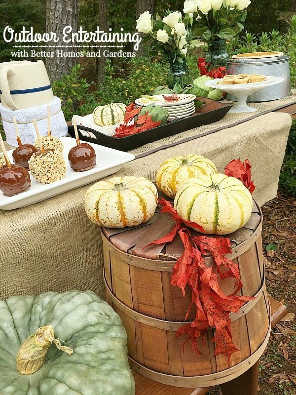 Fall outdoor living with bhg refresh restyle Better homes gardens tv show recipes
