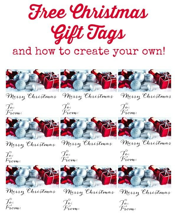 Red and Silver Gift Tags and more! Plus how to make your own with GraphicStock