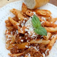 Cook in tonight with this 15 minutes, one pot Tyson Beef Marinara Penne