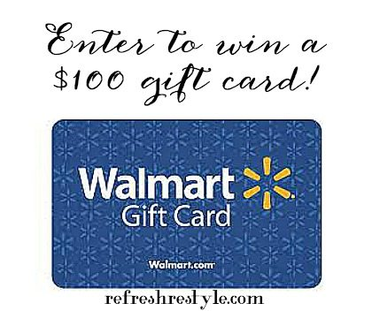 Enter to win a $100 Walmart Gift Card at RefreshRestyle.com