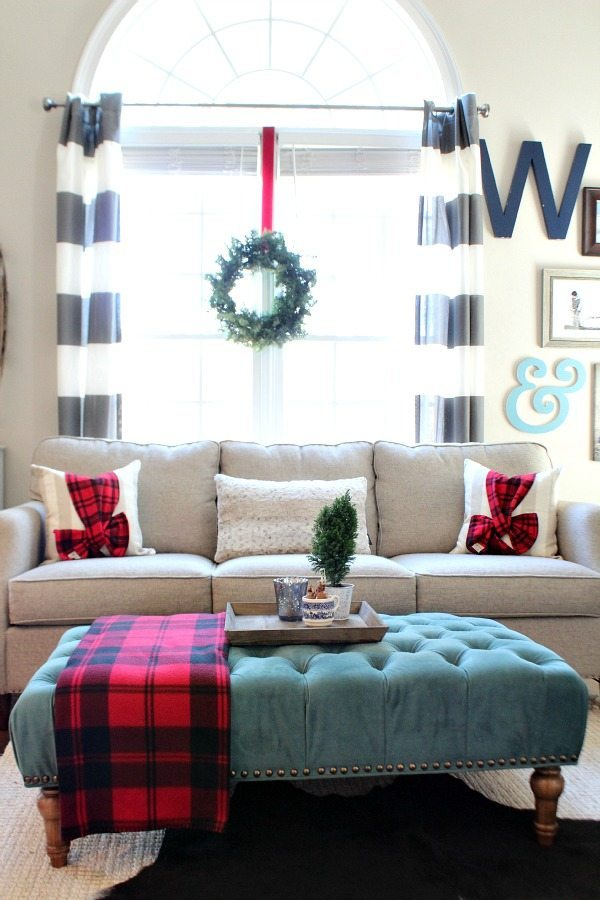 Family room refresh restyle Christmas Home Tour