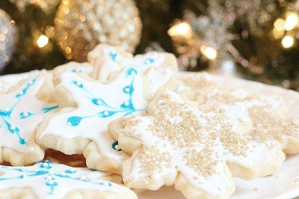 Golden sugar sparkles make perfect cookie gifts for Christmas