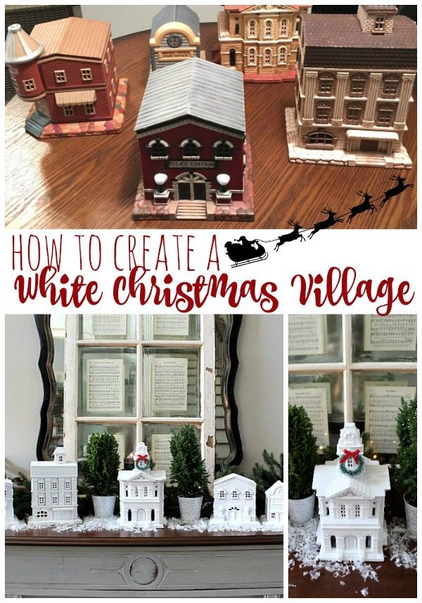 How to create a white Christmas village, a snowy little town at Refresh Restyle