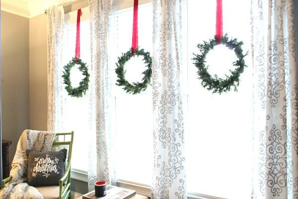 Three wreaths on the windows