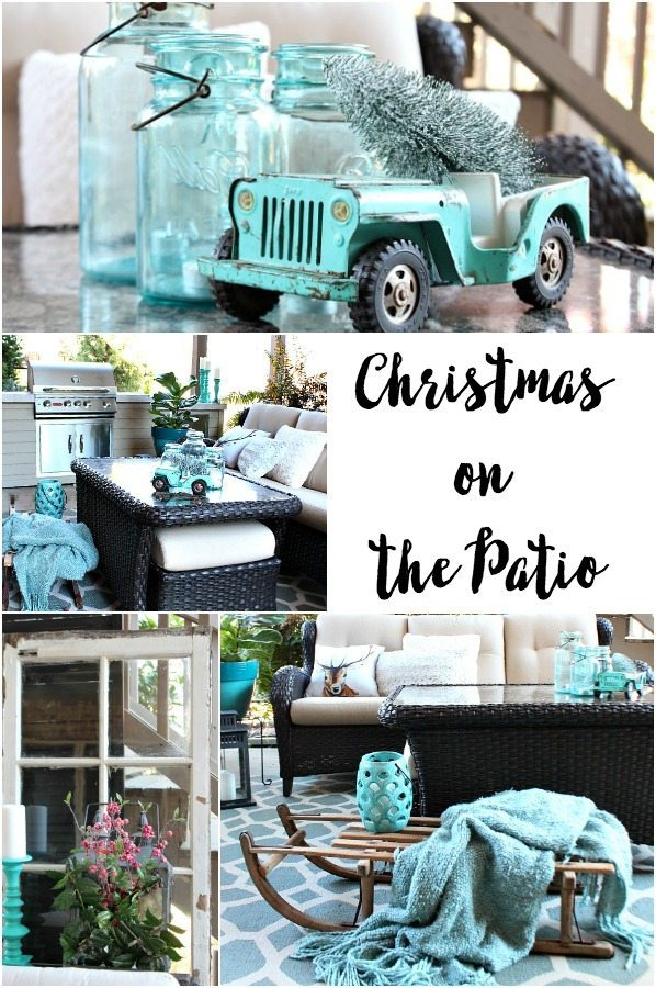 Turquoise Patio decor for Christmas and Winter at Refresh Restyle