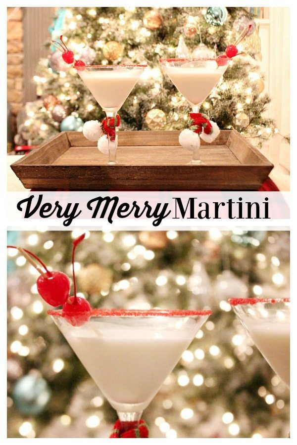 Very Merry Martini recipe for holly jolly cheer at Refresh Restyle