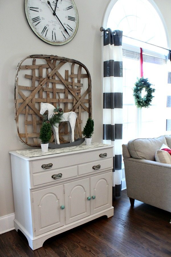 View from the kitchen table refresh restyle Christmas Home Tour