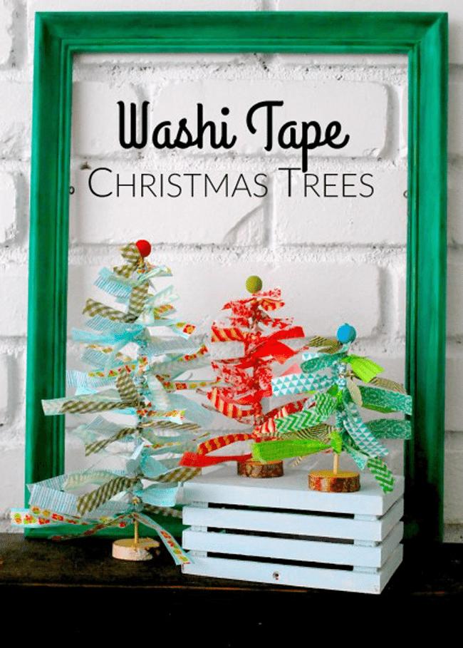 Washi Tape Trees