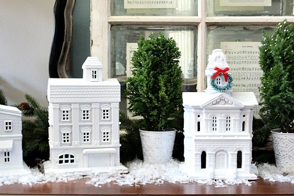 White Christmas village at Refresh restyle
