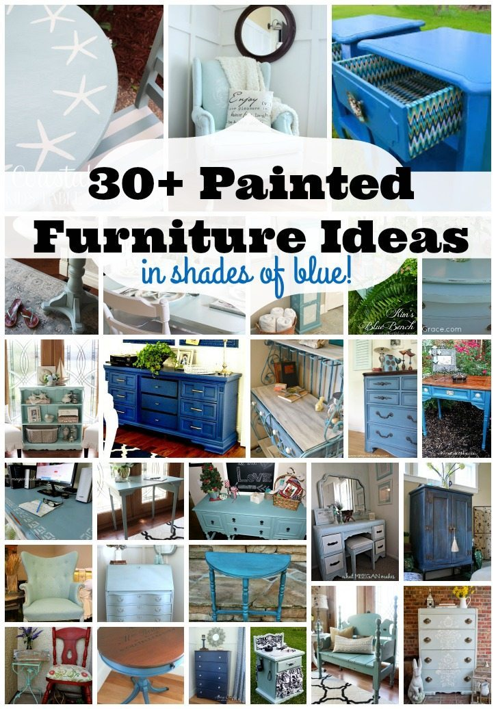 30 Painted Furniture Ideas in shades of blue and more at Refresh Restyle