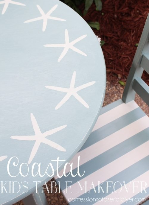 Beach-Inspired-Kids-Table from Confessions of a Serial Do-It-Yourselfer