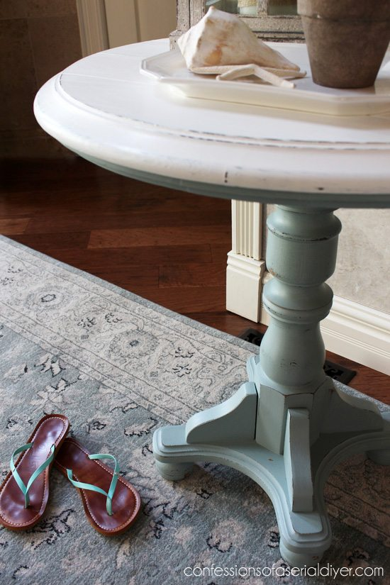 Beach-Pedestal-Table from Confessions of a Serial Do-It-Yourselfer