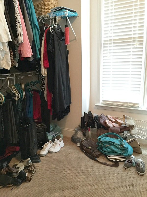 Before closet was organized