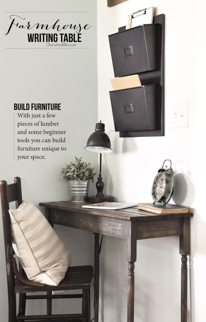 Gorgeous Farmhouse Projects - Writing Desk