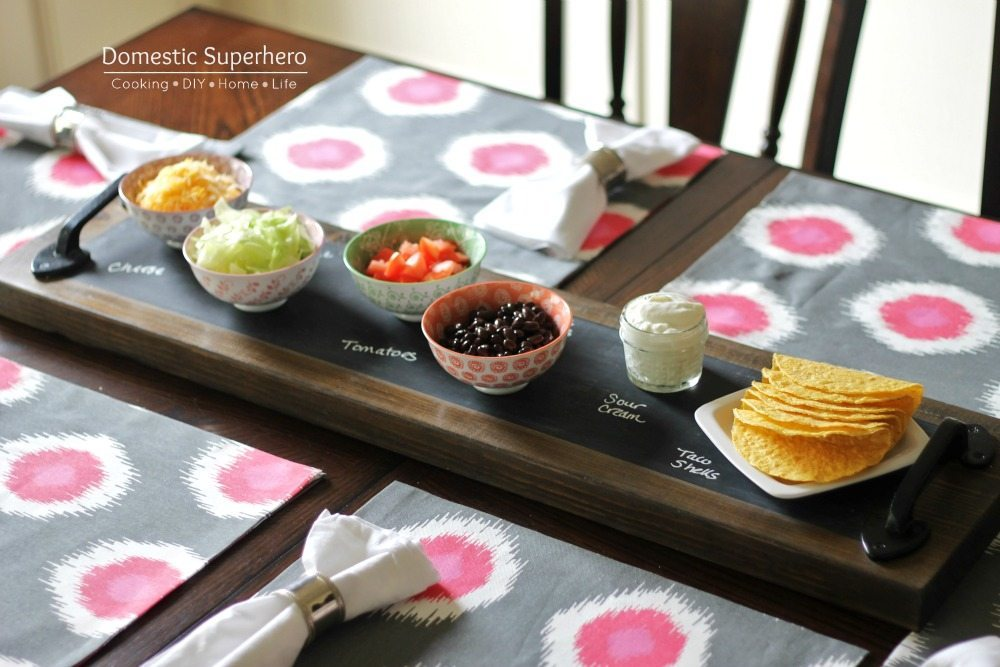 Gorgeous Farmhouse Projects - Chalkboard-Serving-Tray