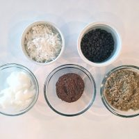 Chocolate Coconut Sugar Scrub Ingredients