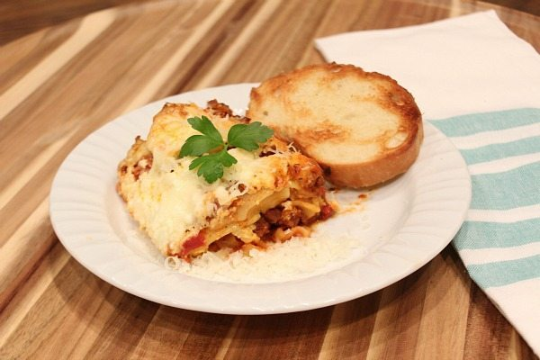 Crock pot - slow cooker lasagna yummy recipe made with Ragu
