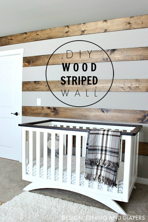 Gorgeous Farmhouse Projects - DIY-Wood-Striped-Wall