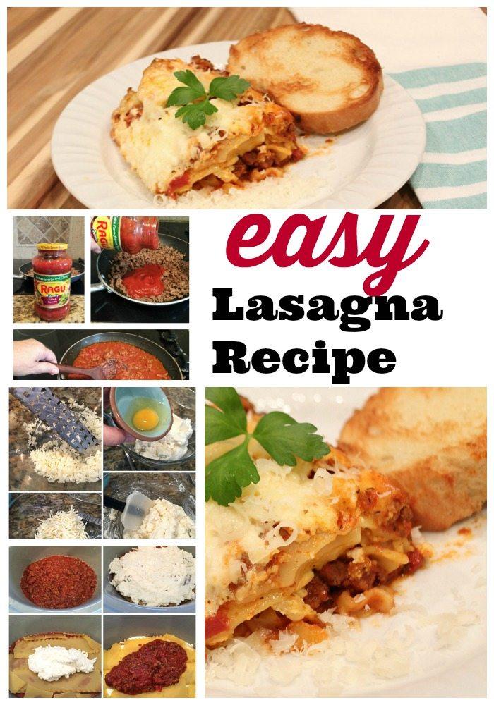 Easy and delicious Crock pot slow cooker recipe Lasaga Recipe with Ragu
